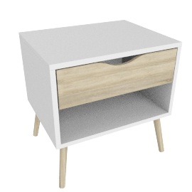 DELTA NIGHTSTAND 1 DRAWER by tvilum