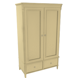 Louisa Double Wardrobe, Parchment