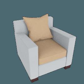 Muse Armchair (fabric A) - Burlap