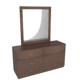 Ambrose Dresser/Mirror, Dark Brown