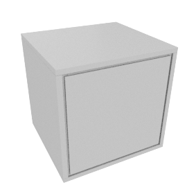 Napoli Matt Bedside Cabinet, French Grey