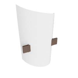 Domus Plan B Wall Lamp, chestnut