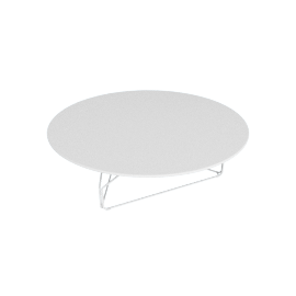 Polygon Wire Table - Large, White