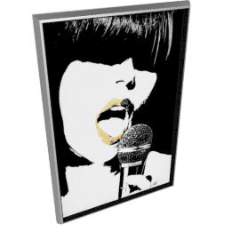 Glam Rock VI by KelliEllis - 30''x44'', Silver