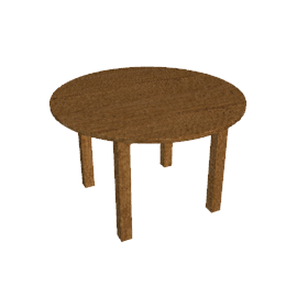 Bergerac Round Dining Table, Alsace