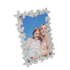 Butterfly Photo Frame - 6x4 Inch, White