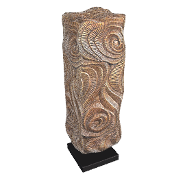 Rectangular Swirl Sculpture, H56cm