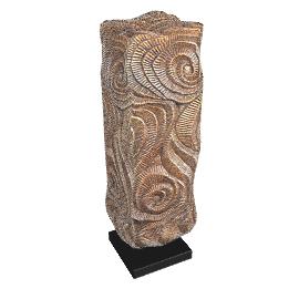 Rectangular Swirl Sculpture, H56cm