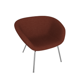 Pot Lounge Chair, Orange