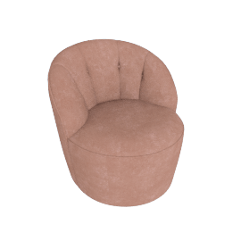 Margot Swivel Chair, Dusk Pink