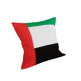 Uae Flag Filled Cushion - 45x45 cms