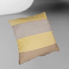 Horizontal Pleats Cushion, Yellow