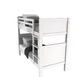 Ashton white bunk bed