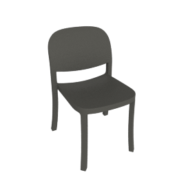 1'' Reclaimed Chair, Dark Grey