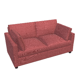 Ravel Small Sofa Bed, Red