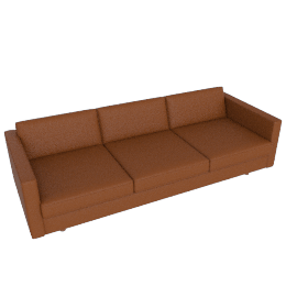 Lispenard Sofa, Kalahari Leather - Canyon with Walnut Leg
