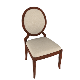Hemingway Dining Chair, Cream