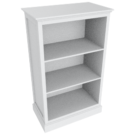 Little Sweetie Nursery Short Bookcase, White