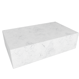 Plinth Coffee Table, Carrara