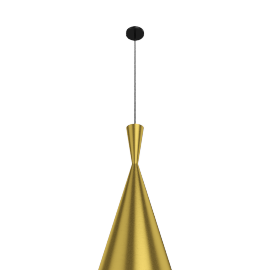Beat Pendant, Tall, Brass