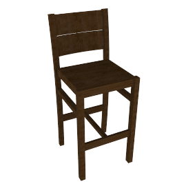 Portal Bar Chair, Walnut