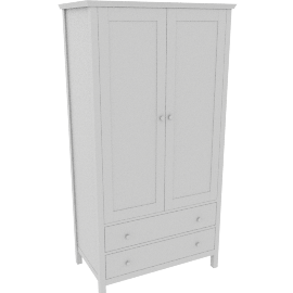 Wilton 2 Door Wardrobe, White