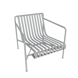 Palissade Lounge Chair, Low, Sky Grey