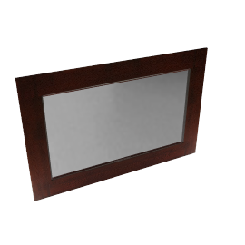 Stockholm Wall Mirror, Brown, 91 x 138cm