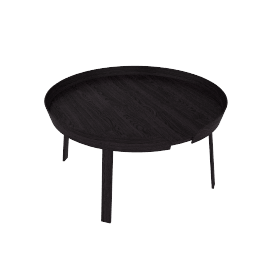 Around Table, Large - Black