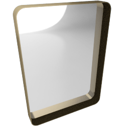 Alana Large Rectangular Wall Mirror, Brass