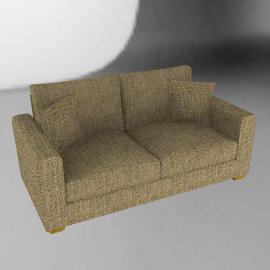Gino Medium Sofa, Stone