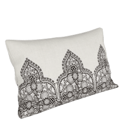Monochrome Lace Cushion