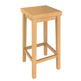 Country High Bar Stool, Chestnut Stain