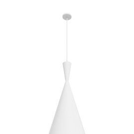 Beat Pendant, Tall, White