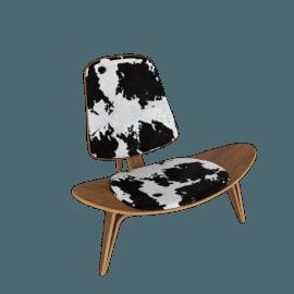 Shell Chair - Walnut - Cowhide - Walnut.Cowhide