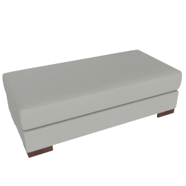 Signature Storage Ottoman, Pebble