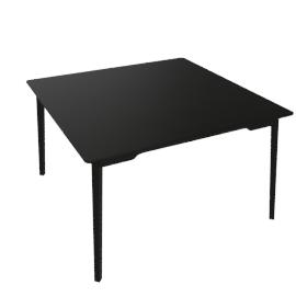 Lancaster Dining Table, 48'' x 48'' - DkAsh.Black