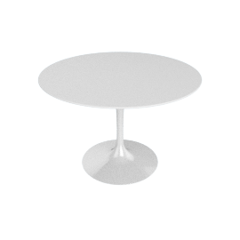 Saarinen Round Dining Table 42'', Laminate - White.White