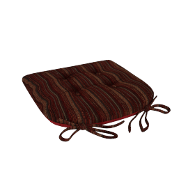Veronica Chair Pad, Red
