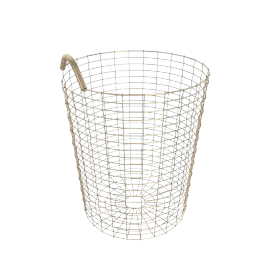 Korbo Handmade Wire Basket, Bin 18, Brass