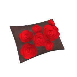 Rose Bloom Cushion, Chocolate