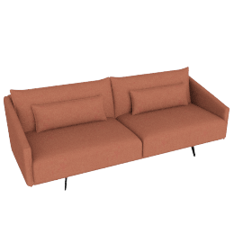 Costura Sofa, Coral, Boucle