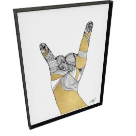 Sign Language IV by KelliEllis - 30''x40'', Black