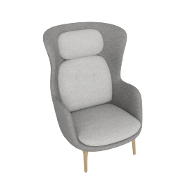 Ro Lounge Chair, Light Grey