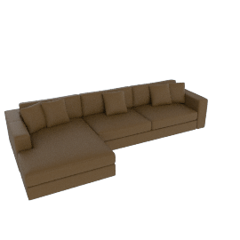 Reid Sectional with Chaise, Right, Leather