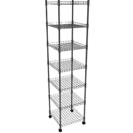 Chrome Shelf System, 7 Tier