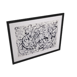 Jackson Pollock- Number 14 Framed Print, 89 x 69cm