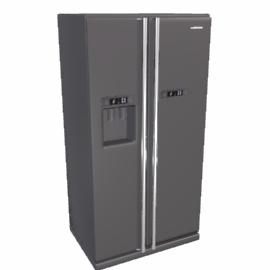 Samsung RSJ1JEMH Side by Side Fridge Freezer, Silver