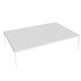 1966 Collection Porcelain Coffee Table, Rectangular, White