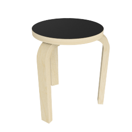 Stool 60, Linoleum Black